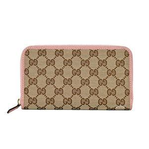 Gucci Original GG Canvas/Leather Zip Around Wallet
